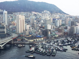 釜山ロッテ・デパート光復路店・からの風景2