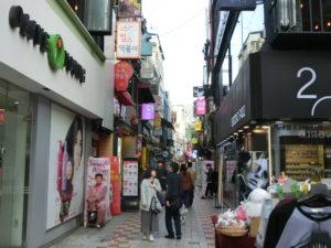 若者向けの飲食店が軒を連ねる、仲小路。