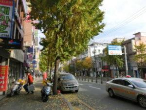 NCまでの、道すがら、今の釜山のストリート。